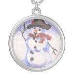 Snowman Playing Dress Up Jewelry