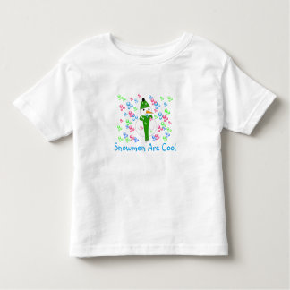 Snowman Playing with Bubbles Toddler T-shirt