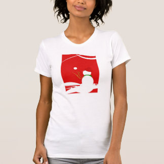 Snowman Playing with Snowballs Tees