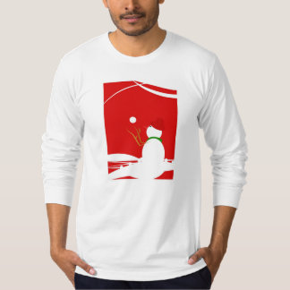 Snowman Playing with Snowballs Tshirts