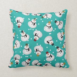 "Snowman Polyester Throw Pillow 16"" x 16"""