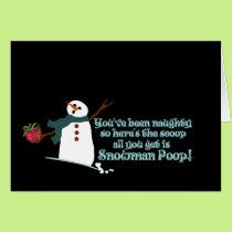 Snowman Poop Card