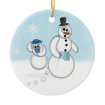 Snowman Poop Ceramic Ornament