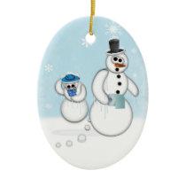 Snowman Poop Ceramic Ornament