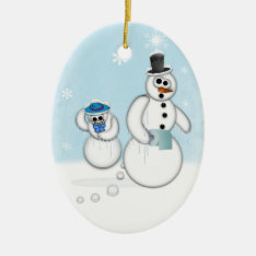 Snowman Poop Ceramic Ornament at Zazzle