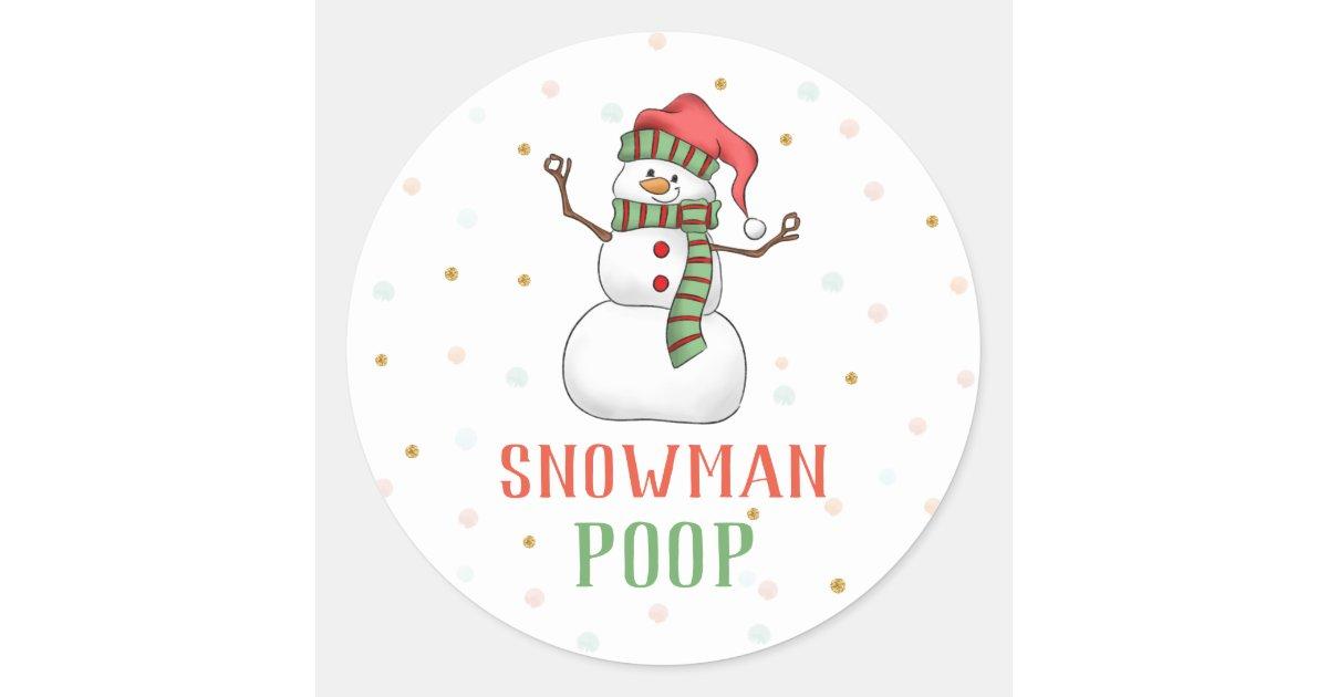 CUTE SNOWMAN POOP Stickers x 42 # 11