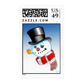 Snowman Postage at Zazzle