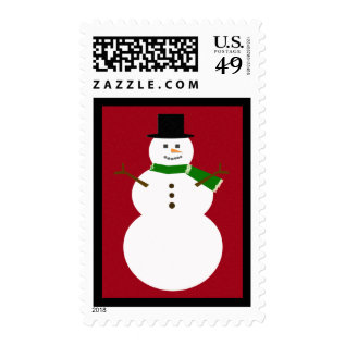 Snowman Postage at Zazzle