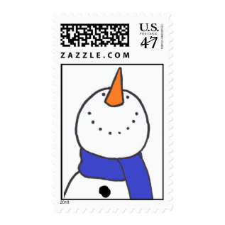 """Snowman"" Postage at Zazzle"