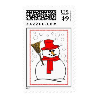 Snowman Postage Stamp