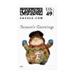 Snowman Postage Stamps Postage