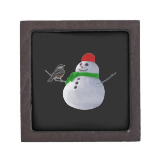 Snowman Premium Keepsake Box