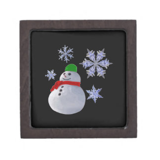 Snowman Premium Trinket Box