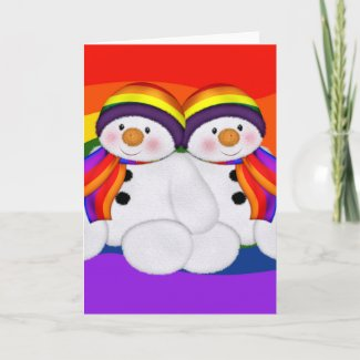 Snowman Pride card