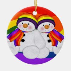 Snowman Pride Ceramic Ornament at Zazzle