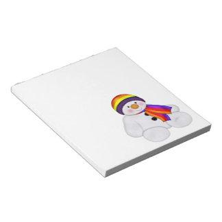 Snowman Pride Notepad