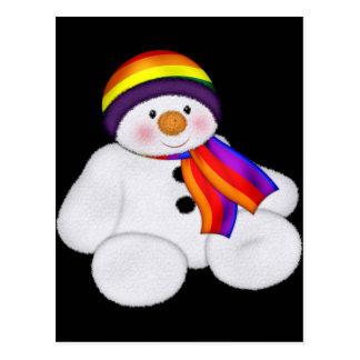Snowman Pride Postcard