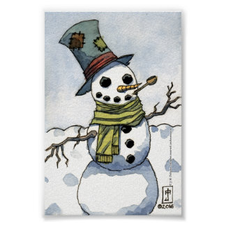 Snowman - Print