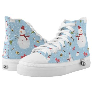 Snowman Printed Shoes
