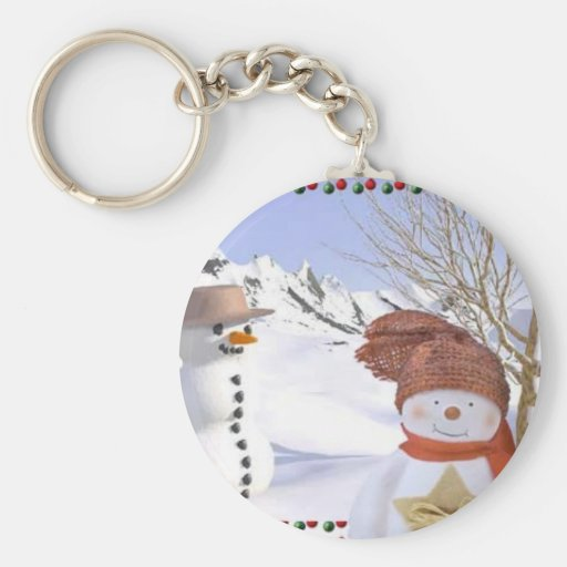 snowman products keychain