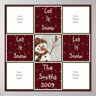 Snowman Quilt Scrapbook Page Print