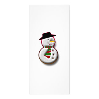 Snowman Personalized Rack Card