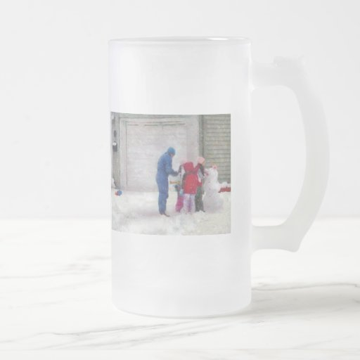 Snowman - Reconstructive Surgery 16 Oz Frosted Glass Beer Mug