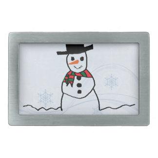 Snowman Rectangular Belt Buckle