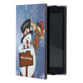 Snowman & Reindeer Case For iPad Mini