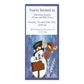 Snowman & Reindeer Rack Card