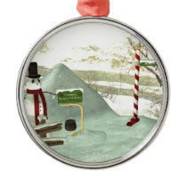 Snowman Relocation Fund Metal Ornament