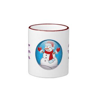 Snowman Ringer Coffee Mug