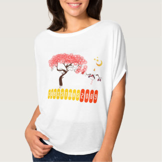 Snowman Rule Snowman Looking Up At the Moon T-Shirt
