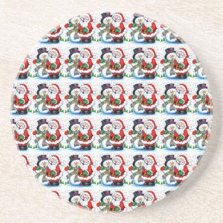 Snowman & Santa Claus Coaster