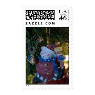 Snowman Santa Postage stamp