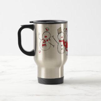 Snowman Santa Reindeer Penguin Travel Mug