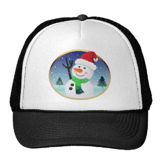 Snowman Santa Trucker Hat