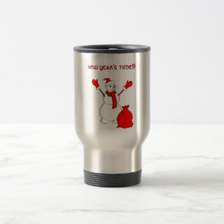 Snowman saying - Party time!!! Coffee Mugs