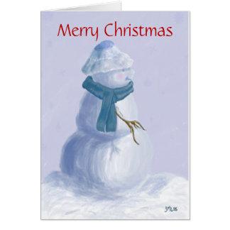 Snowman Scarf Card