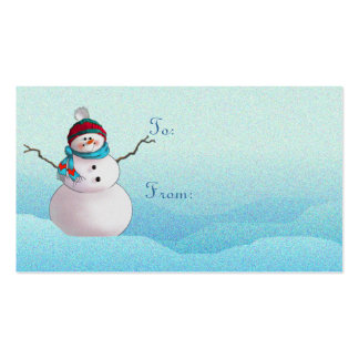SNOWMAN, SCARF & HAT by SHARON SHARPE Double-Sided Standard Business Cards (Pack Of 100)