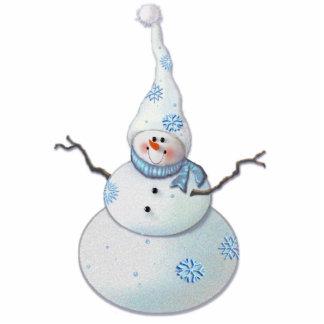 SNOWMAN, SCARF & SNOW HAT by SHARON SHARPE Statuette