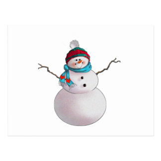 SNOWMAN, SCARF & STOCKING CAP by SHARON SHARPE Post Card