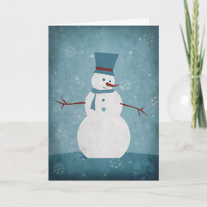 Snowman/Season's Greetings Greeting Card