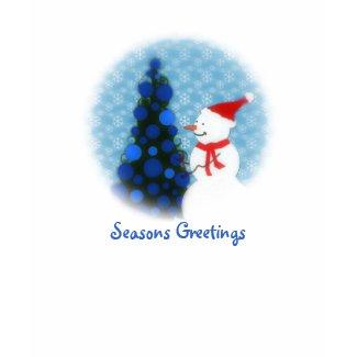 Snowman Seasons Greetings Ladies Long Sleeve shirt