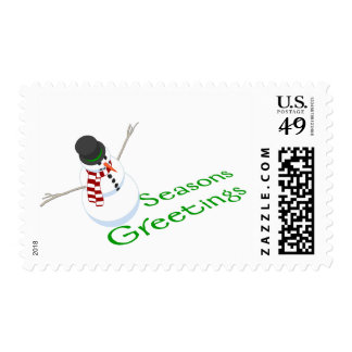 Snowman Seasons Greetings Postage