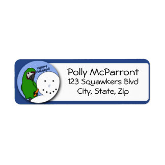 Snowman Severe Macaw Label