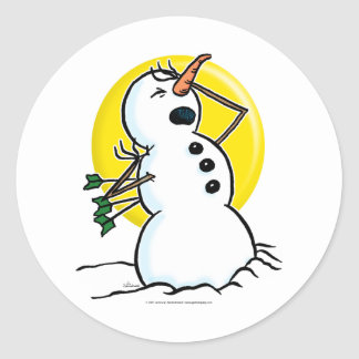Snowman Shot! Stickers