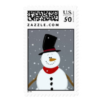 Snowman - Silver Postage