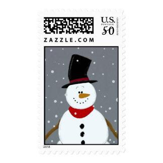 Snowman - Silver Postage