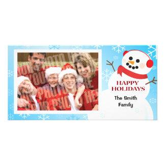 Snowman single photocard card